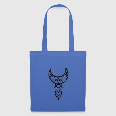 Infinity Crescent moon with little goddess and symbols. - Tote Bag