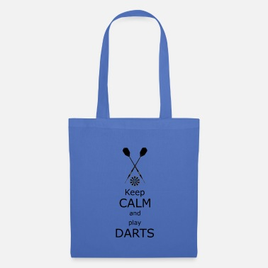 Werfen Keep calm and play Darts - Stoffbeutel