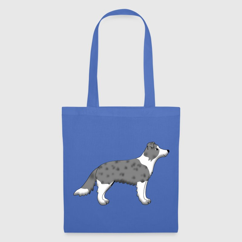 Border Collie blue merle - Tote Bag