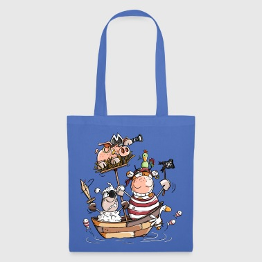 Funny farm pirates - pirate - buccaneers - Tote Bag