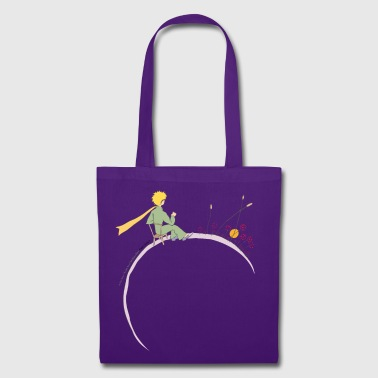 The Little Prince Looks At Sunset - Tote Bag