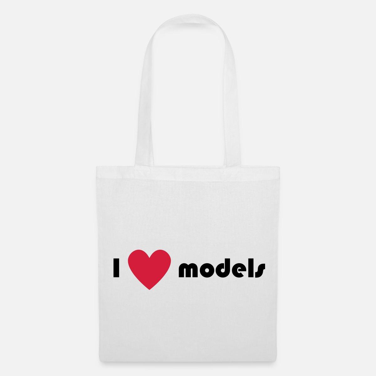 832da80fe7f I love models Tote Bag   Spreadshirt