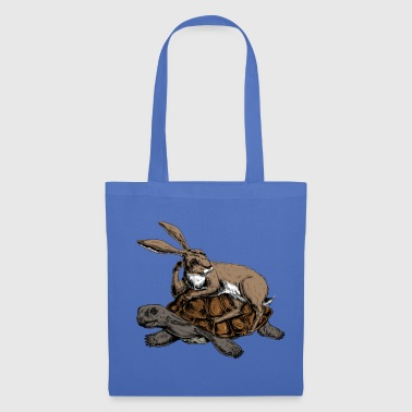 Hare and Tortoise - Tote Bag