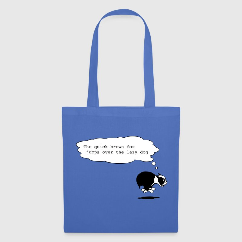 the quick brown fox jumps over the lazy dog - Tote Bag