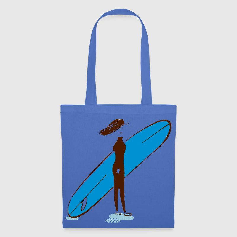 surfeuse longboard - Tote Bag