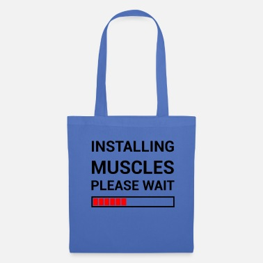 Crusher Installing Muscles Please Wait Muscles Gym Fitness - Tote Bag