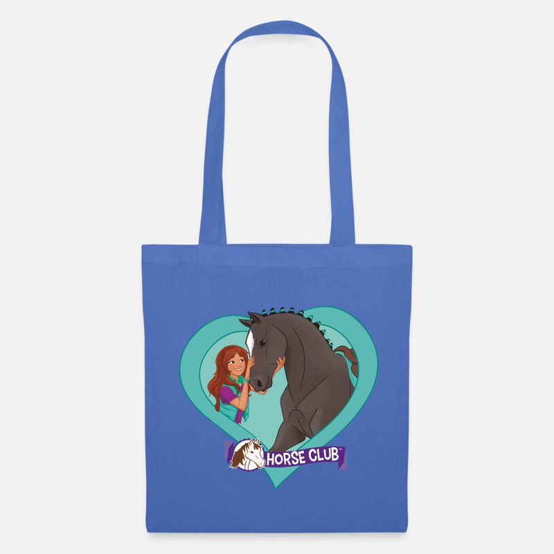 Horse Bags & Backpacks - Schleich Horse Club Lisa & Storm heart motif - Tote Bag light blue