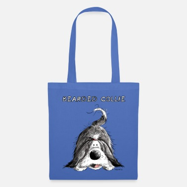 Bearded Collie Playing Bearded Collie - Tote Bag