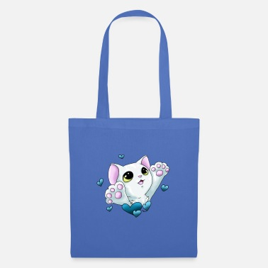 Smudge Smudge Hug (Blue Hearts) - Tote Bag