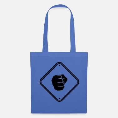 Note Clue caution beating sign warning alert zone eight - Tote Bag