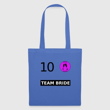 Team Bride Nr. 10 Trikot Jersey Wedding Marriage - Stoffbeutel