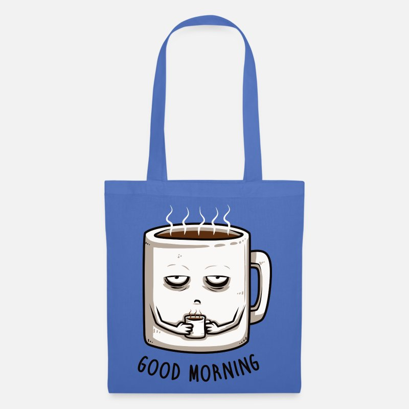 Spreadshirtlikes Borse & Zaini - good morning - Borsa di stoffa celeste