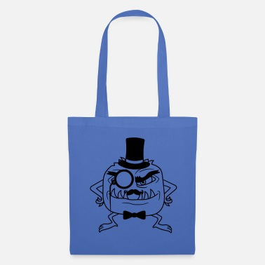 Mr Sir gentlemen cylinder hat monocle glasses rei - Tote Bag