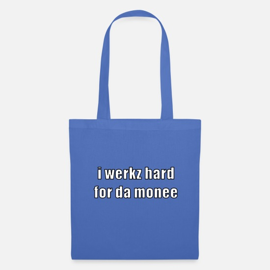 Cool Bags & Backpacks - i werkz hard - Tote Bag light blue