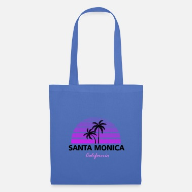 Lever Du Soleil Santa Monica California noir / rose - Tote Bag