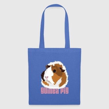 Retro Guinea Pig 'Elsie' (text) - Tote Bag