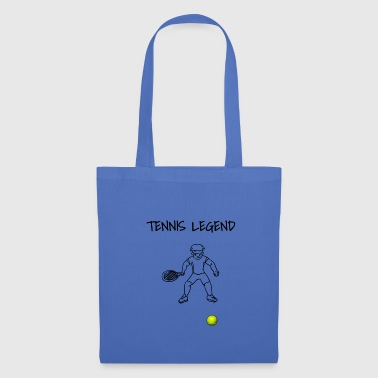 Stick Figure Stick figure tennis player playing hobby tennis - Tote Bag