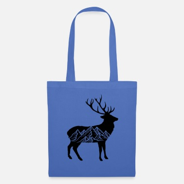 Christianity black cool pattern deer deer antler jaeger mountains - Tote Bag
