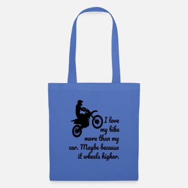 Wheelie Motorcycle wheelie - Tote Bag