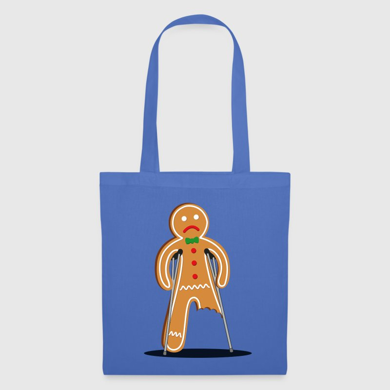 gingerbread man hurt (blue) - Tas van stof
