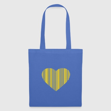 Cuore barcode love - Tote Bag