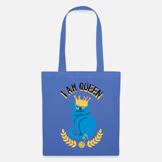 Bestsellers Q4 2018 Bags & Backpacks - I'm Königin cat - Tote Bag light blue