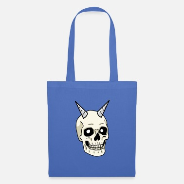 Skull Crâne Damon Dark Fantasy Gothique Halloween - Tote Bag