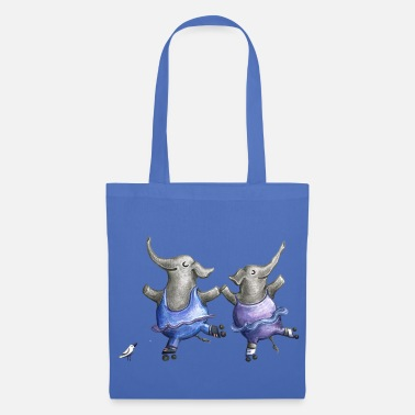 Love Collection Roller skate elephant dance - Tote Bag