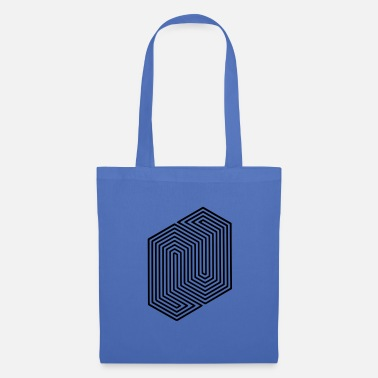 Graphic Art &amp Optical Illusion (Impossible Minimal B & W Lines) - Tote Bag