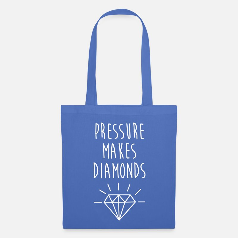 Bestseller Bags & Backpacks - Pressure Makes Diamonds Quote - Tote Bag light blue