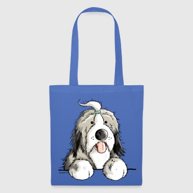 Happy Bearded Collie - Tote Bag