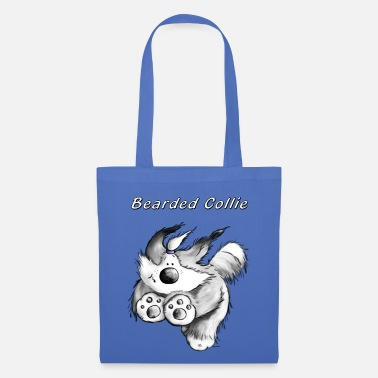Bearded Collie Running Bearded Collie - Tote Bag