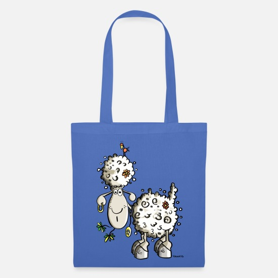 Peace Bags & Backpacks - Hippie Sheep - Tote Bag light blue