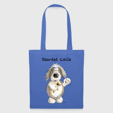 Bearded Collie With Teddy - Tote Bag