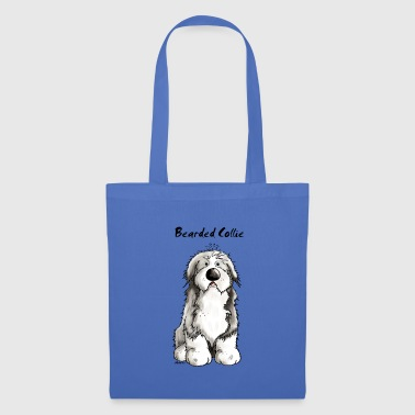 Bearded Collie Carino Bearded Collie - Bearded Collies - Borsa di stoffa
