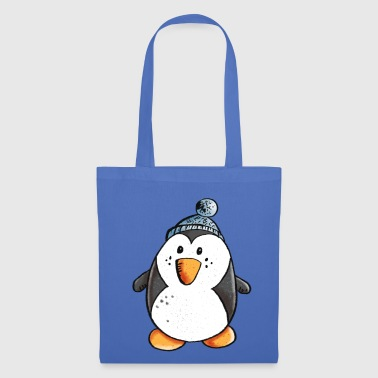 Penguin with bobble cap - Tote Bag