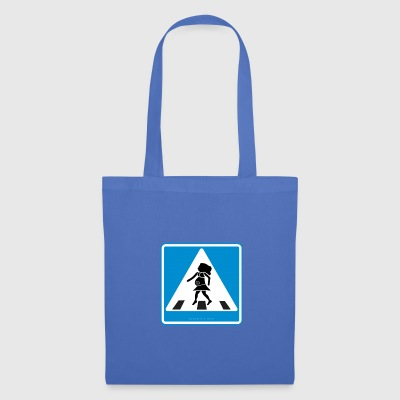 Traffic sign: Pregnancy blue / pregnancy blue - Tote Bag