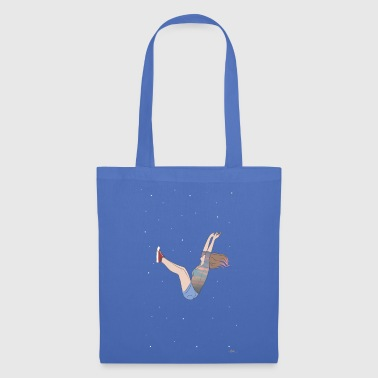 fille tombant - Tote Bag