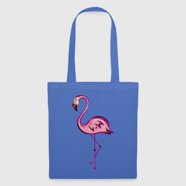 Flamingo, symbol for summer and holiday, watercolo - Tote Bag