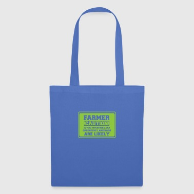 Farmer / farmer / farmer: Farmer! Caution! Flying - Tote Bag