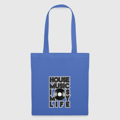 House Music is my life - Stoffbeutel