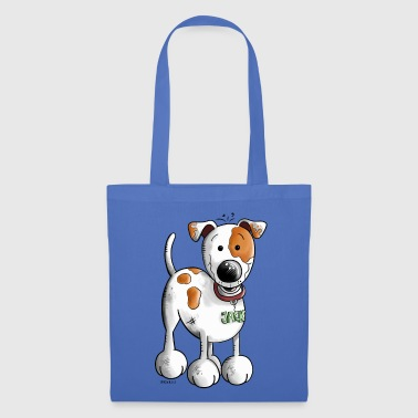 Cute Jack Russell Cartoon - Tote Bag