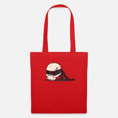 Blindfold Skull skull with blindfold Cool - Tote Bag