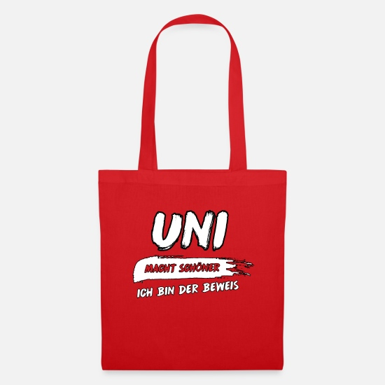 Final Thesis Bags & Backpacks - Uni is more beautiful! - Tote Bag red