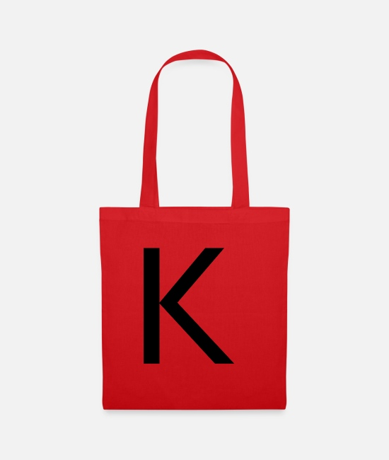Alphabet Bags & Backpacks - Alphabet K - Tote Bag red