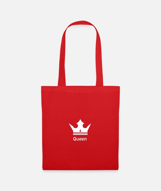 Couples Bags & Backpacks - Queen design - Tote Bag red