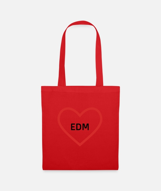 Music Bags & Backpacks - EDM (Electronic Dance Music) - Tote Bag red
