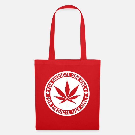 Hemp Bags & Backpacks - medical hemp - Tote Bag red