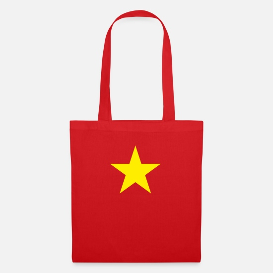 Vietnam Bags & Backpacks - Vietnam flag star Vietnamese Southeast Asia - Tote Bag red