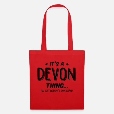 Name devon its a name thing - Tote Bag